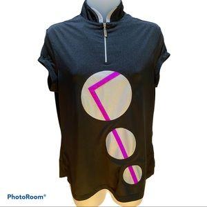 Jamie Sadock Golf Short Sleeve Top Size S Black